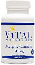 Acetyl L-Carnitine 500mg, 60 capsules